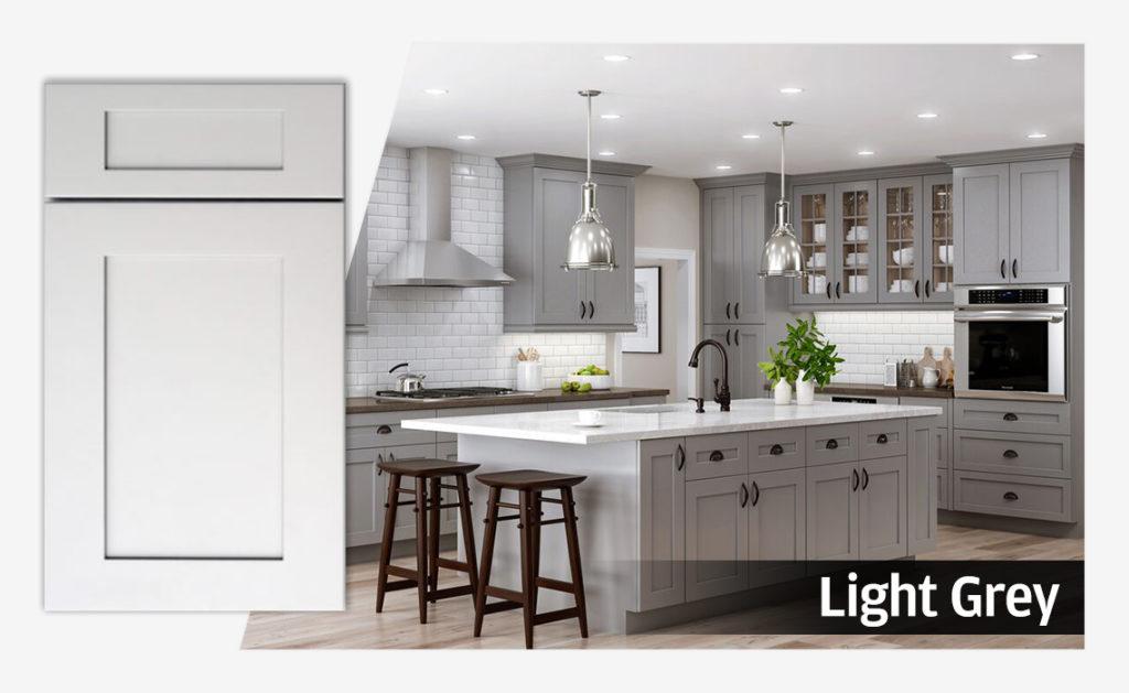 Wholesale Light Grey Cabinets Kitchen Kitchen Cabinets